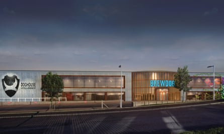 Rooms with a brew … rendering of how the new BrewDog hotel in Scotland will look.