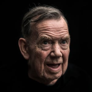 Head shot of Tom Ledson, 76, who has dementia, against a black background