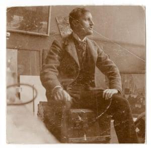 Edvard Munch in his studio, 1902