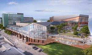 'Sawtooth movement leading to a gradual crescendo' … a CGI rendering of the Gateshead Quays building.