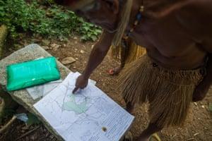 map of the guarani lands