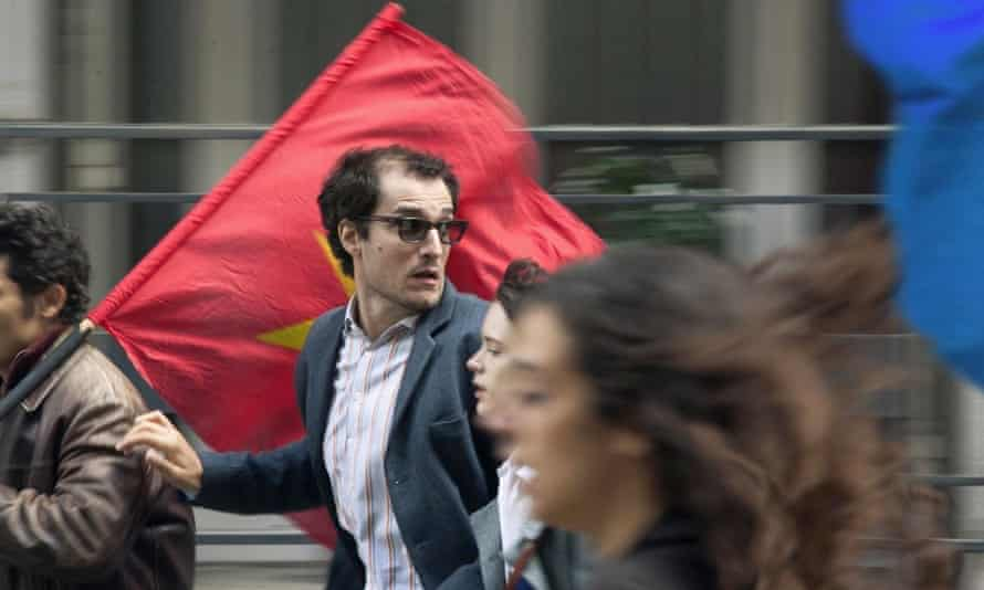 'Played with lisping arrogance': Louis Garrel as Jean-Luc Godard in Redoubtable.