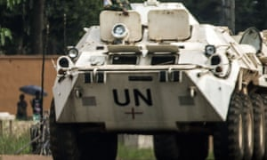 A Minusca vehicle in Central African Republic