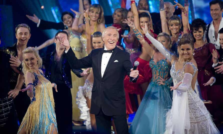 Bruce Forsyth on the set of the BBC's Strictly Come Dancing, 2008.