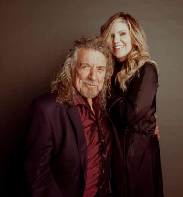 Robert Plant and Alison Krauss photographed at Sound Emporium in Nashville