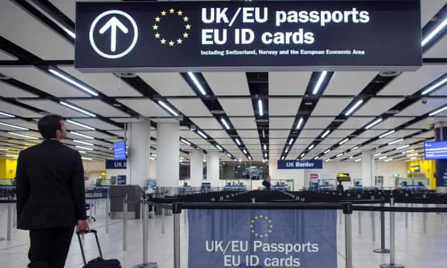 Passport gates at Gatwick