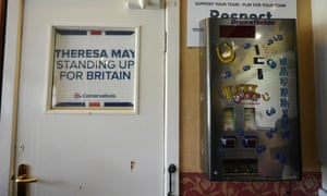 An election poster at the West Yorkshire Cricket and Bowling Club.