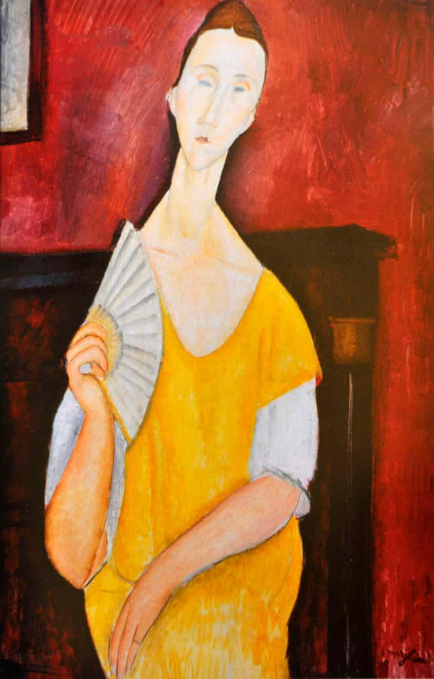 Modigliani's Woman with a Fan from 1919.