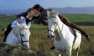 Juliette Binoche and Jason Riddington in the 1992 film adaptation of Wuthering Heights.