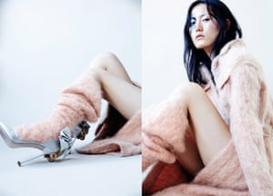 Coat £800, and socks from a selection by Faustine Steinmetz from Selfridges, selfridges.com. Pumps, £845, by miumiu.com
