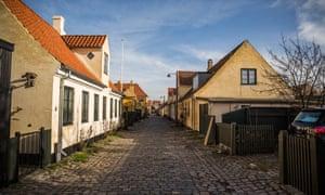 Quiet street in old Dragør, Denmark