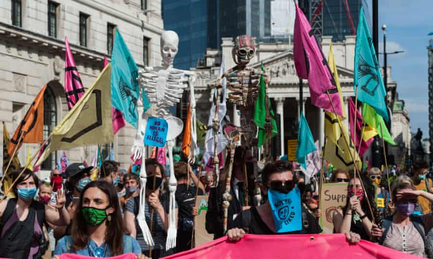 An Extinction Rebellion protest in London