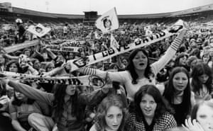 Fans at a concert at White City Stadium, west London. in 1974