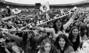 Fans at a David Cassidy concert at White City Stadium, west London in 1974
