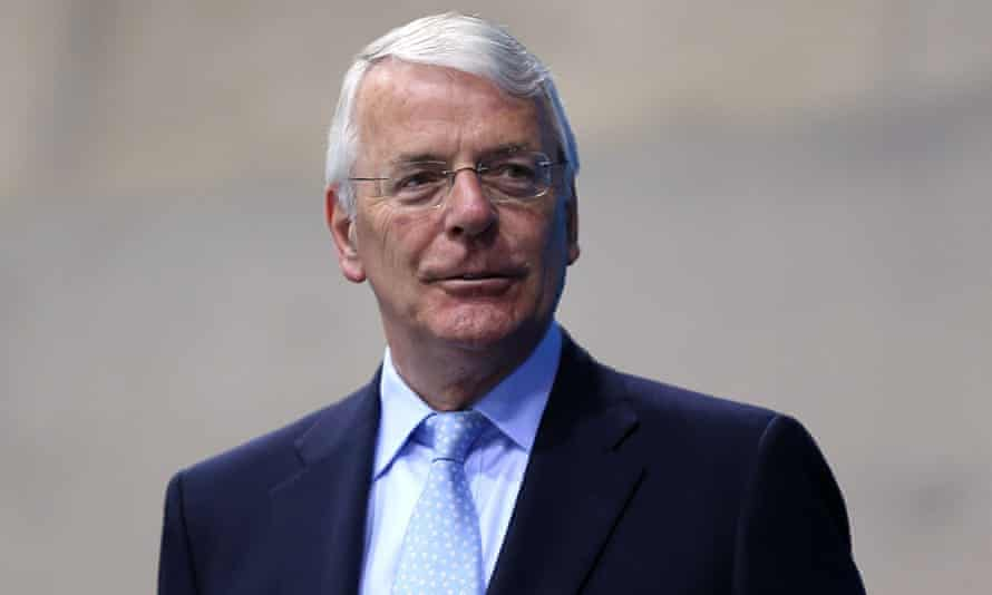 John Major, who launched the national lottery.