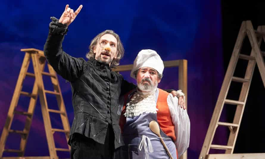 Tristan Sturrock, left, as Cyrano at the Bristol Old Vic.