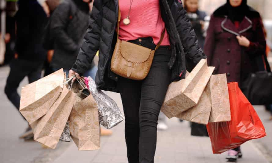 Customer with bags of shopping