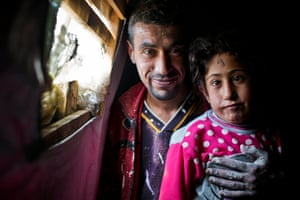 Firaz Hilal left Homs four years ago with his four children after their home was destroyed by bombs