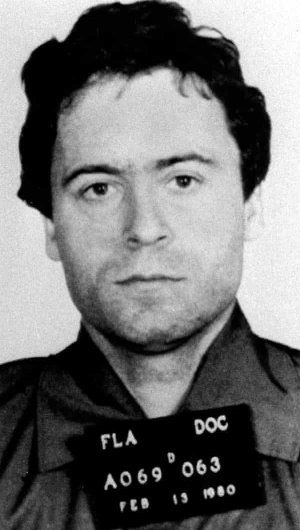 1980 police mug shot of murder suspect Ted Bundy.
