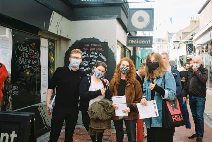 Customers outside Resident in Brighton during Record Store Day in June 2021.
