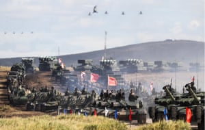 The war games are being held by the Russian armed forces and the Chinese People's Liberation Army