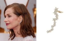 Isabelle Huppert-inspired sparkle star ear crawler earrings, £6, accessorize.com.