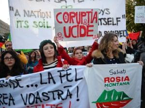 Anti-mine protests in Bucharest, 2014