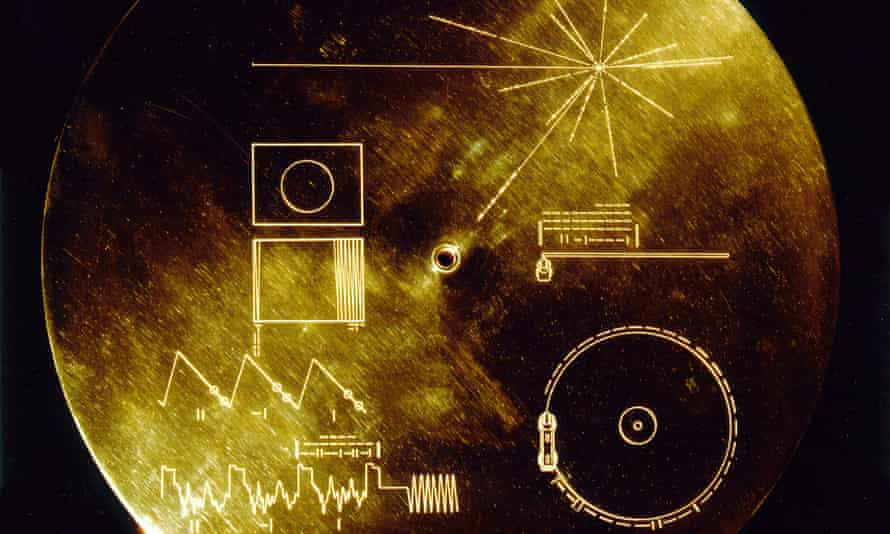 The Voyager Golden Record, carrying Johnny B Goode to alien life forms.