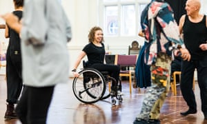 Amy Trigg in RSC rehearsals for The Taming of the Shrew.