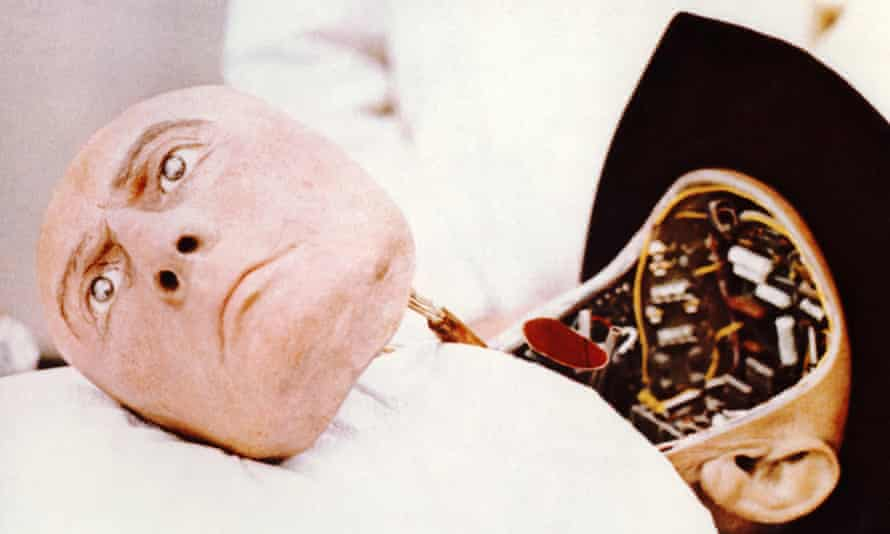 Yul Brynner's malevolent robot in the film Westworld (1973).