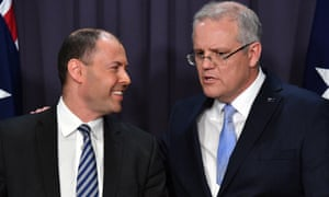 Newly elected deputy leader Josh Frydenberg and leader of the Liberal Party, Scott Morrison addresses media at a press conference at Parliament House in Canberra, Friday, August 24, 2018. (AAP Image/Mick Tsikas) NO ARCHIVING