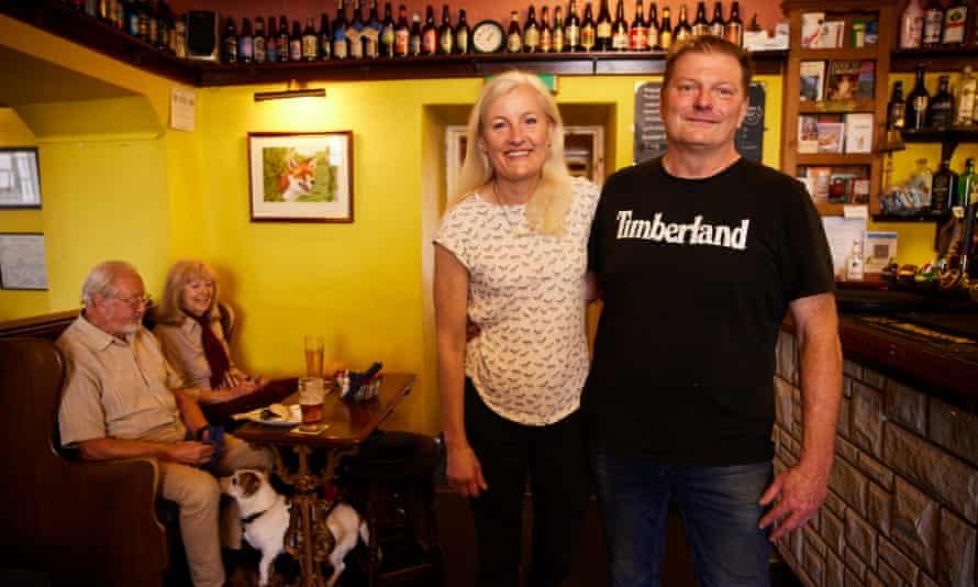Johnny Walker and Joanne Moore at the Fox and Hounds pub in West Witton