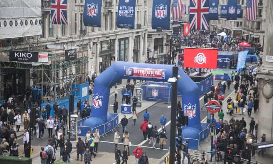 NFL block party in Regent Street