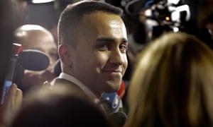 Italy's deputy prime minister, Luigi Di Maio, after a cabinet meeting at Rome's Chigi Palace