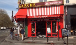 Exterior of Bar du Marche, Paris.