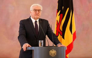 German President Frank-Walter Steinmeier giving his statement on the coalition deadlock