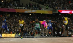 Justin Gatlin wins gold, Christian Coleman wins silver and Usain Bolt finishes third to win bronze in the men's 100m final
