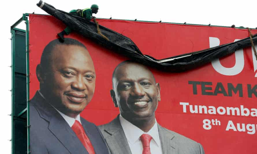 Kenya's President Kenyatta and deputy president William Ruto  in an election poster