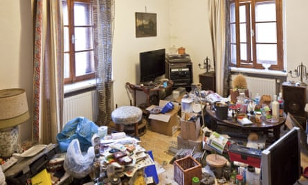 A room with hoarded objects