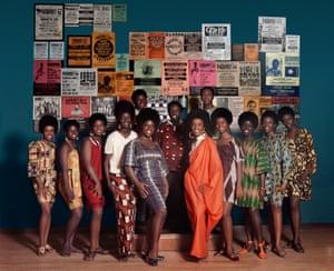 Naturally '68 photo shoot, featuring Grandassa Models and founding members of AJASS.