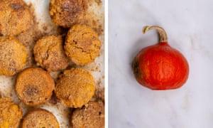 Orange squash: Tom Hunt's pumpkin doughnut muffins.