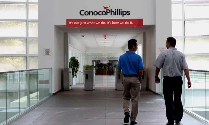 The headquarters of ConocoPhillips in Houston, Texas