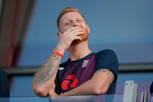 Ben Stokes can't hide his disappointment.