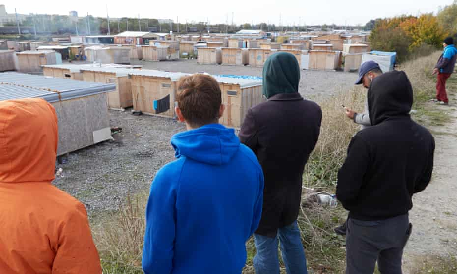The Dunkirk camp holds up to 2,000 of whom an estimated 100 are unaccompanied minors.