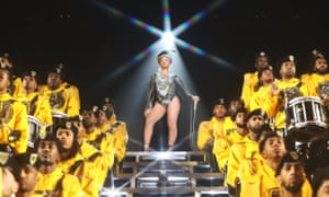 'Exciting, regal and black in celebration' ... Beyoncé performing at Coachella 2018.