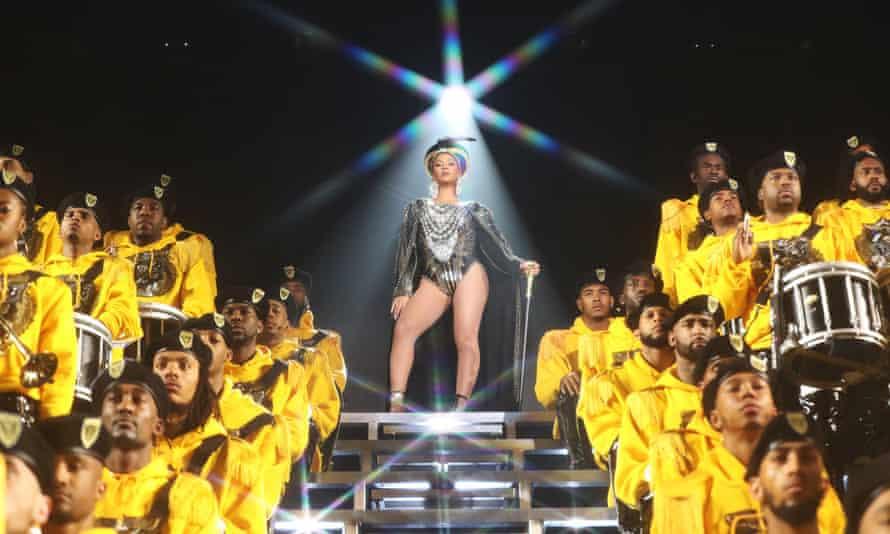 Homeward bound … Beyoncé performs live.