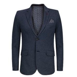 blue blazer with cravat