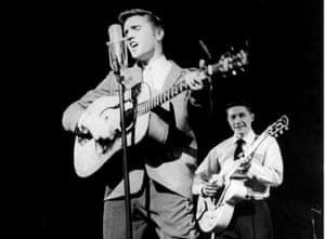 Presley and Moore in 1956.
