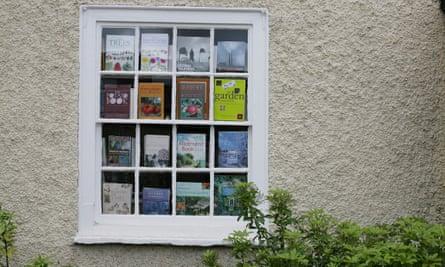 Bookshop window full of gardening books
