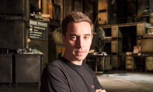 Playwright James Graham on the set of his play Ink at the Almeida theatre in Islington, London.